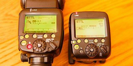 Transmitter vs. Flash unit Control Panel