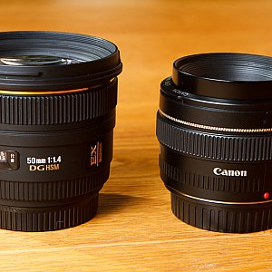 Sigma 50mm 1.4 vs. Canon 50mm 1.4