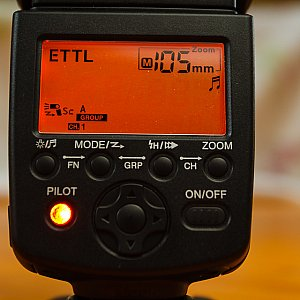 eTTL settings with manual zoom