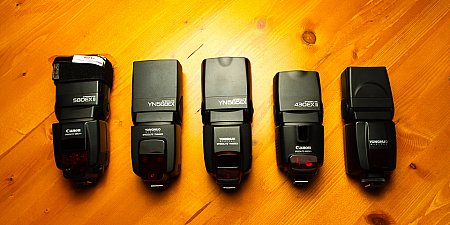 Canon 580EXII vs YN-568EX vs YN-568EX vs Canon 430EXII vs YN-460