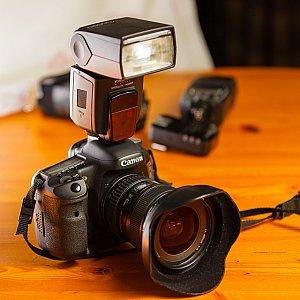 YN-568EX mounted to a camera