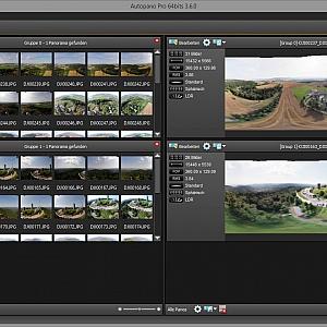 Stitch the image using AutoPano Pro