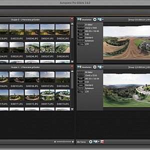 Stitch the image using AutoPano Pro